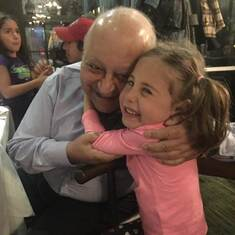 Elwy with his grand niece, 2019