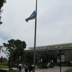 May 2, 2019- UCLA flag flies at half mast to honour Prof. Nketia & 3 other departed Profs