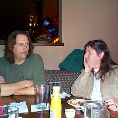 Don & Em at the Onion in 2001