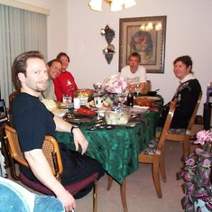 Another Christmas at our place -2003 (Em & I cooked together!)