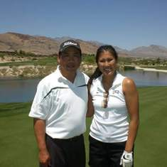 A priceless moment of playing golf with Erica at Bear's Best in Las Vegas- 2009