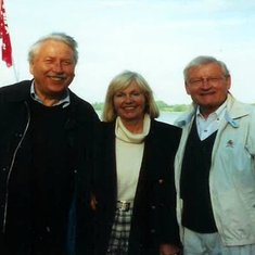 Ernie with his brother, Jurgen and his wife, Edith