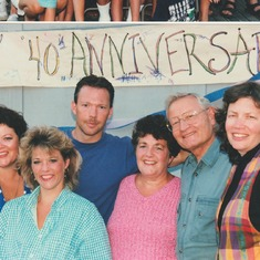 Ernie, JoAnn and their kids celebrating 40 anniversary at Thousand Trails Leavenworth in 1996