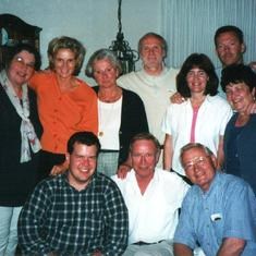 Ernie, JoAnn and family with his Brockmann side cousins in Wilhelmshaven, Germany, 2000