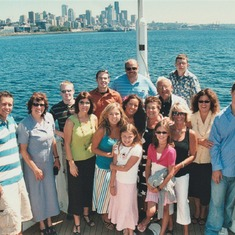 Ernie and JoAnn and family sailing on an Argosy cruise in Seattle, 2006