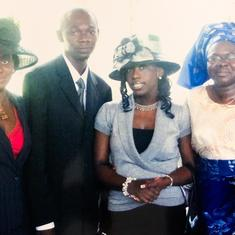 My visit to Grace Evangel Mission and meeting the lovely Aunty Wogu, us (Chizor and Nkechi) before we got married and Onyinye Obafemi