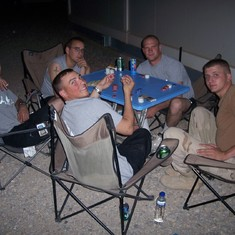 Playing Texas Hold'em in Iraq