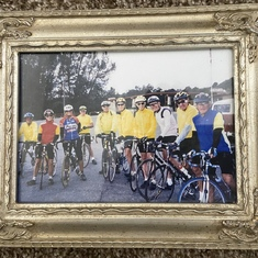 Dad and some of his fellow cyclists