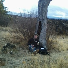 Pooping out after the Table Rock hike, Oregon fall 2015