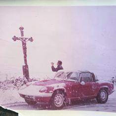 The mythical Lotus in the snow circa 1970