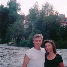 Frank and Janet near Prague 1997