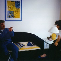 Viki Sonntag and Frank in Holland, a heated discussion about art or ?