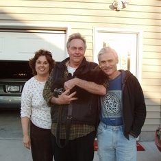 Cheryl and Dave Vermilya with Frank