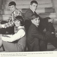 Senior class officers FM high school Frank, Jim, Pamela, Dave