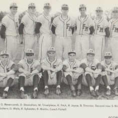 Junior Varsity Baseball FM High School  -- Frank 1st row sitting