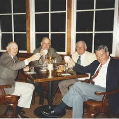L to R- George, Bill Joiner, Lynn Warmack, Glenn Conway at Pebble Beach. Looks like they were raising a glass of water, or milk...