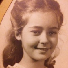 Marlene as a young girl