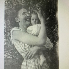 Auntie Lois and Glenda as a wee little baby