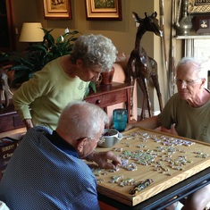 Very puzzling.  Glenn with his brother Keith and Sue.