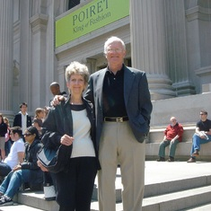 Another of Glenn and Sue great loves -- museums.  At the Metropolitan Museum in NY.