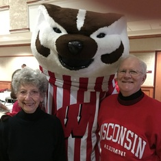 The biggest Wisconsin Badger fans in the world.  At homecoming 2015 in Madison Wisconsin.