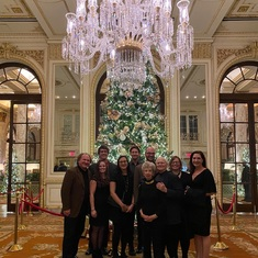 Christmas 2019 in NY at the Plaza Hotel with his nephew Craig (and his wife Karyn) and his grand nieces and nephews - Jesse (and wife Megan), Caitlin (and boyfriend Corey), Sean and Jamie.