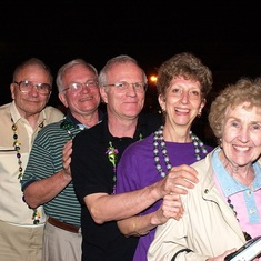 Glenn and Sue at Mardi Gras in Mobile Alabama in 2002, his brothers Keith and Wayne, and Wayne's wife Betty.