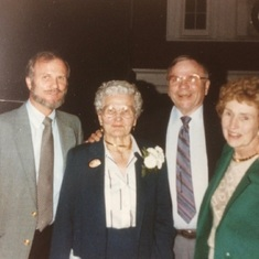 Glenn with his mother Elsie and his brother Wayne and Wayne's wife Betty
