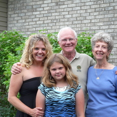 Glenn and Sue with their niece, Janelle and her daughter, Amber.   2009