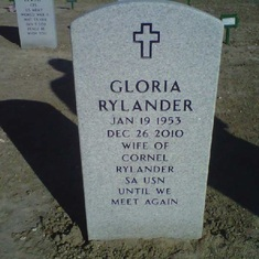 Gloria's Resting Place ~ It's so beautiful and peaceful
