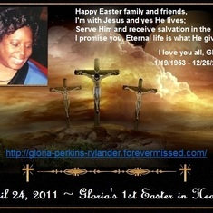 Gloria's 1st Easter in Heaven