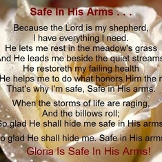 Gloria is Safe in His Arms