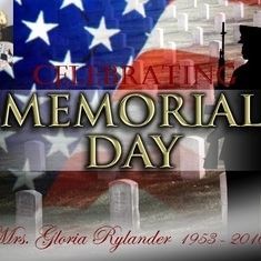 Celebrating Memorial Day - Mrs. Gloria Rylander