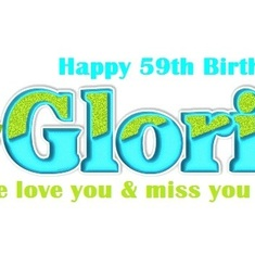 Gloria 59th Birthday