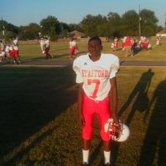 Jaedon 8th grade football