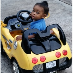 "KyRen said, ""Look Aunt Gloria, I'm driving . . . ride with me."""