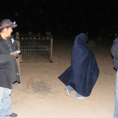 On ghost hunt at Adamsville cemetery. Akira was cold
