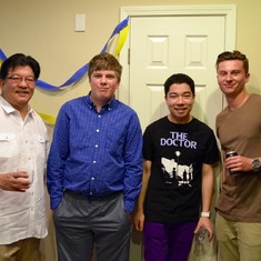 """The guys"", family friends, Trevor's graduation reception, San Jose, May 2015."