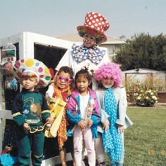 Another picture of Renn's party - the kids had so much fun getting dressed up!  Where did Gregory find those glasses??!!