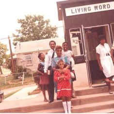 The Poteats In Front of Living Word Missionary Baptist (1983)