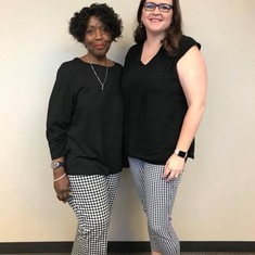 The day we showed up dressed alike!