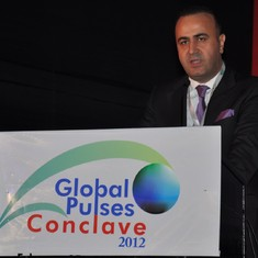 Hakan addressing delegates at The Global Pulses Conclave in Mumbai in 2012