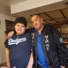 Hector with my nephew Andres.