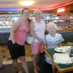Joy Bonsted, Sherry Rudd, & Helen Conrad - enjoying our monthly lunch at the local Chinese buffet. She always made an effort to leave Chinese Bible literature with our waitress, which they usually appreciated in their native language. I loved listening to