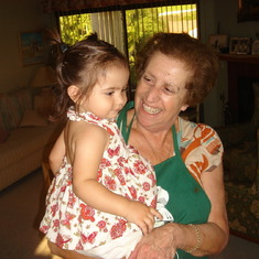 With her granddaughter Larissa