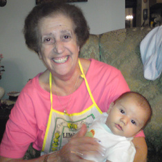 With her grandson Leo