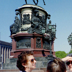 Chatting with natives in (then) Leningrad, May 1989.