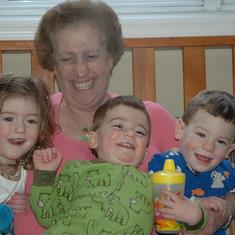 Yiayia making the grandkids laugh as usual February 2010
