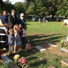 Memorial service in Metuchen, NJ, attended by 25 family and friends (Aug. 6, 2012).