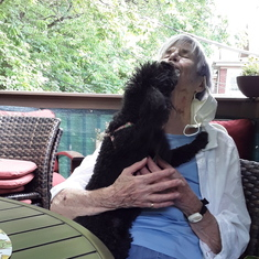 "Like all her furry friends, my Bitsy loved Helen...Helen was the original ""Dog Whisperer""!"